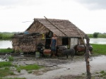 A typical home near rice fields in Tatar Chaung Village