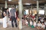 Visiting an orphanage temple in Yangon